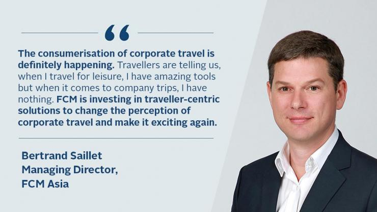 Bertrand: FCM is investing in traveller-centric solutions to make corporate travel exciting again.