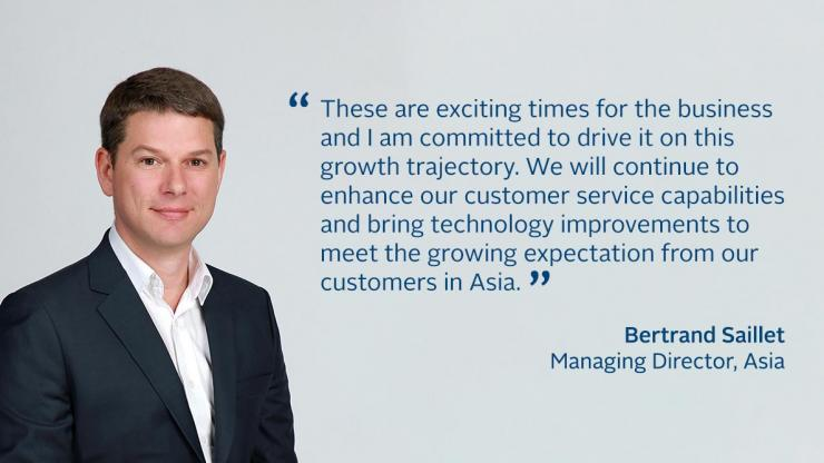 Bertrand's Quote as Managing Director for FCM Asia