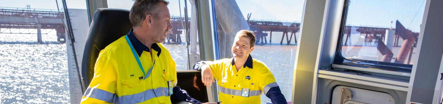 Fortescue Metals employees in machinery