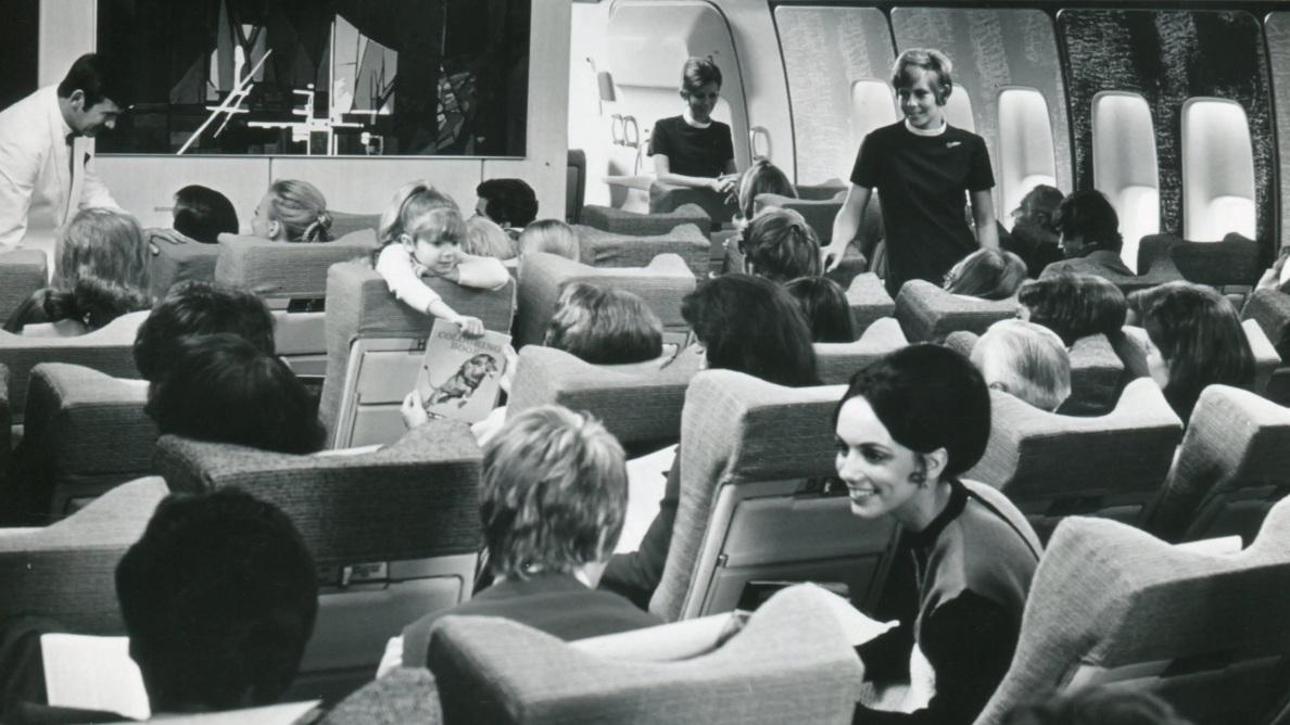 On board an old BA plane