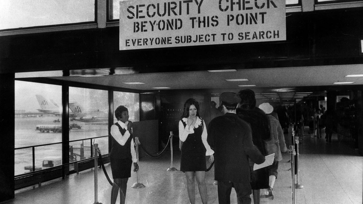 Security checks in the US in 70s